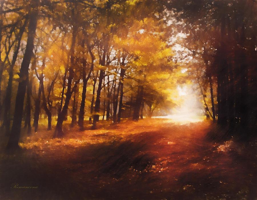 Four Seasons Autumn Impressions At Dawn Mixed Media