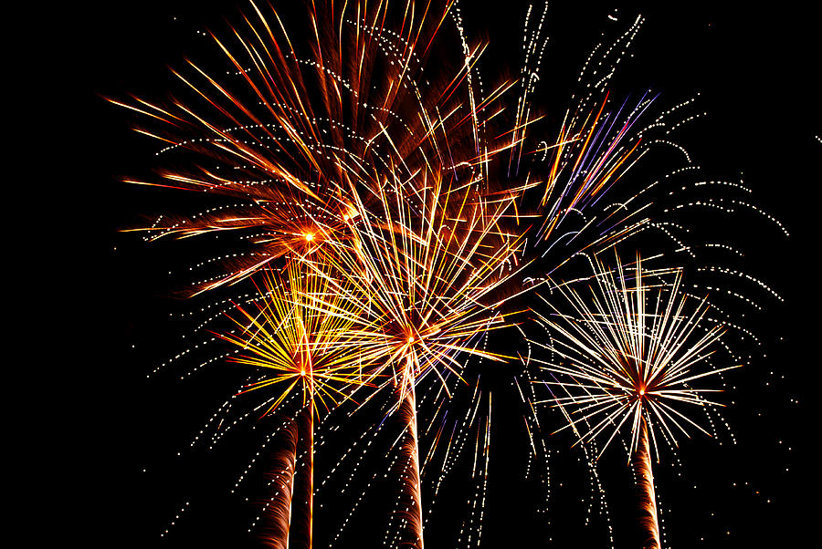 Fourth Of July Fireworks  Photograph  - Fourth Of July Fireworks  Fine Art Print