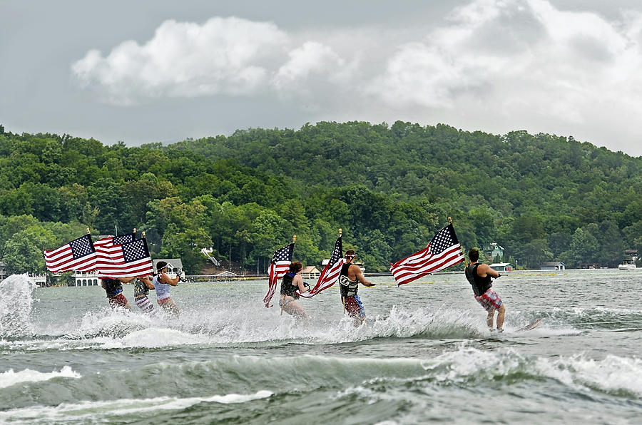 Fourth Of July Water Skiers Photograph