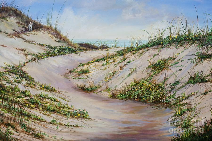 Sea Oats Painting - Fox Dunes by AnnaJo Vahle