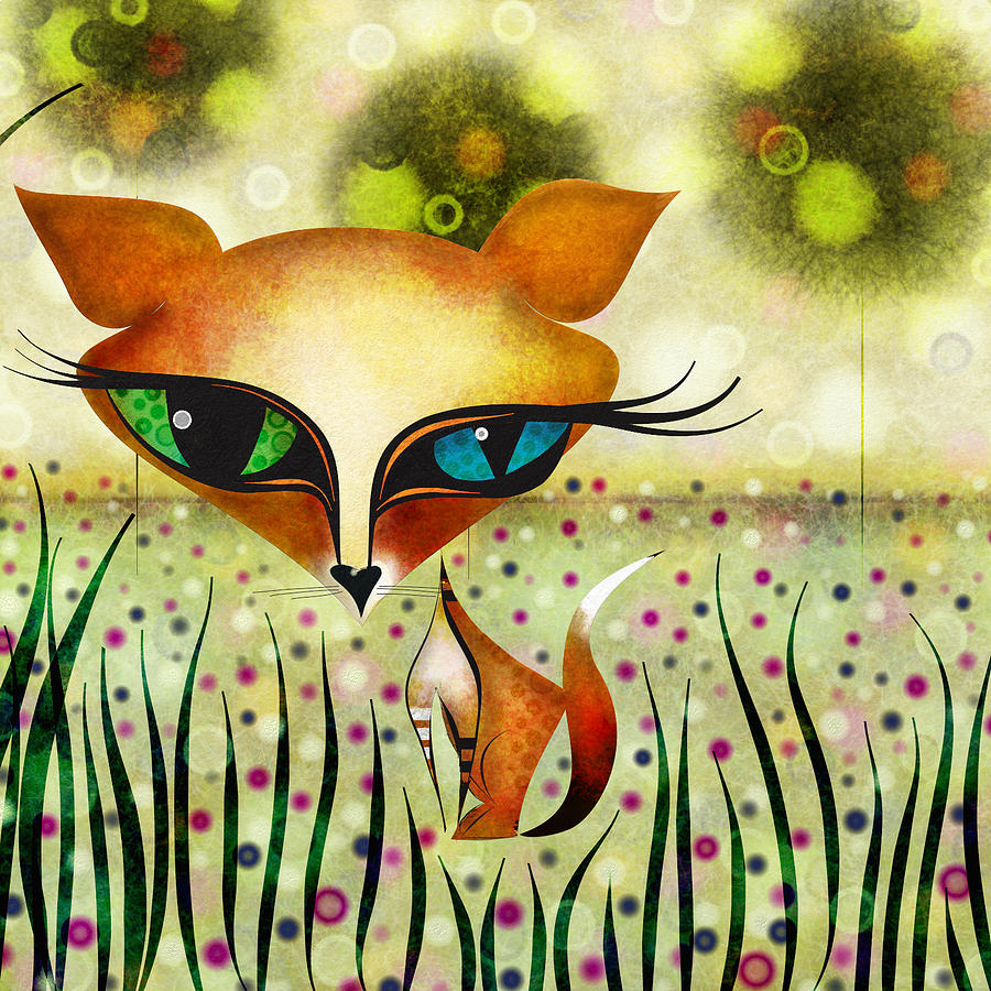 Fox Digital Art  - Fox Fine Art Print
