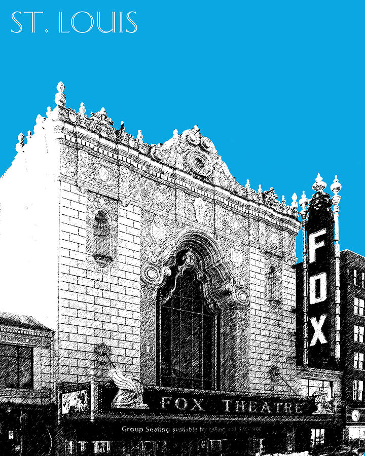 Fox Theater Digital Art  - Fox Theater Fine Art Print