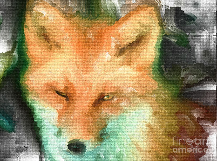 Foxy Girl Digital Art  - Foxy Girl Fine Art Print