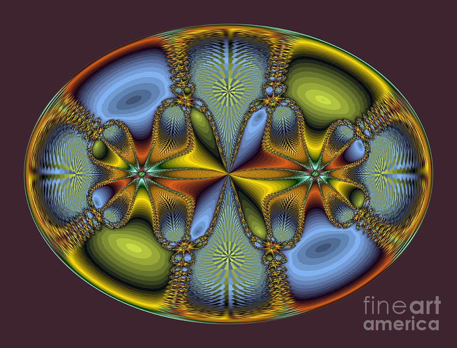 Oval Photograph - Fractal Art Egg by Darleen Stry