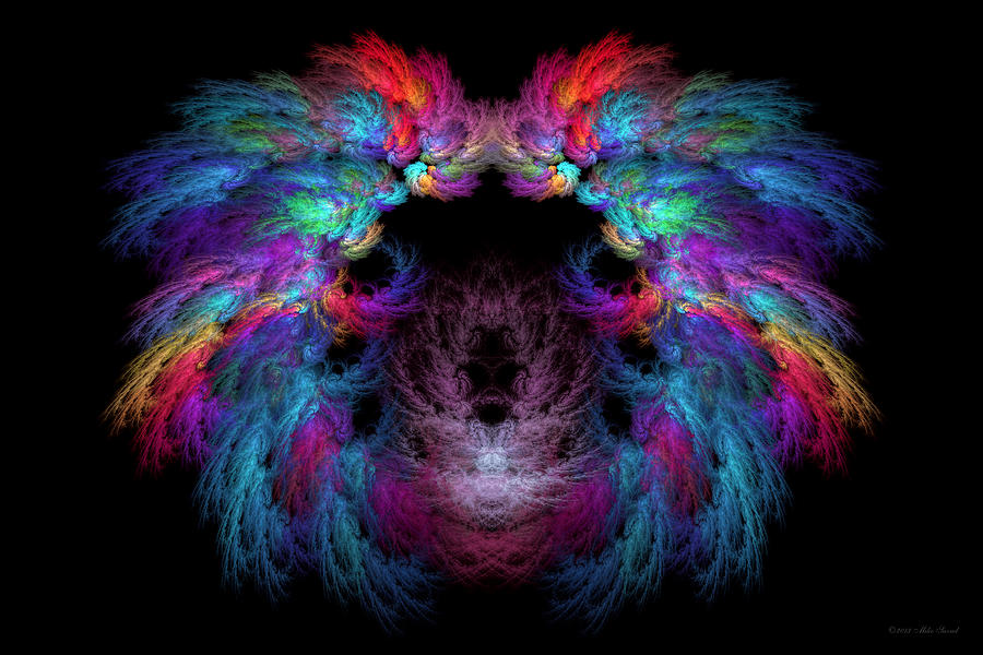 Fractal - Christ - Angels Wings Digital Art  - Fractal - Christ - Angels Wings Fine Art Print