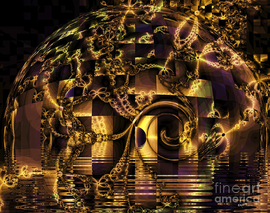 Fractal Flooding Digital Art  - Fractal Flooding Fine Art Print