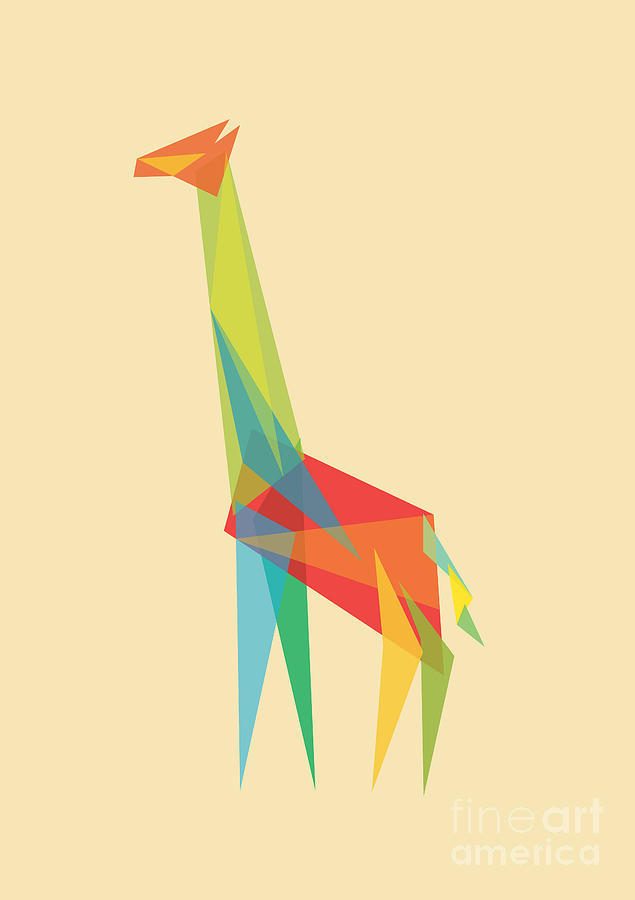 Fractal Geometric Giraffe Digital Art
