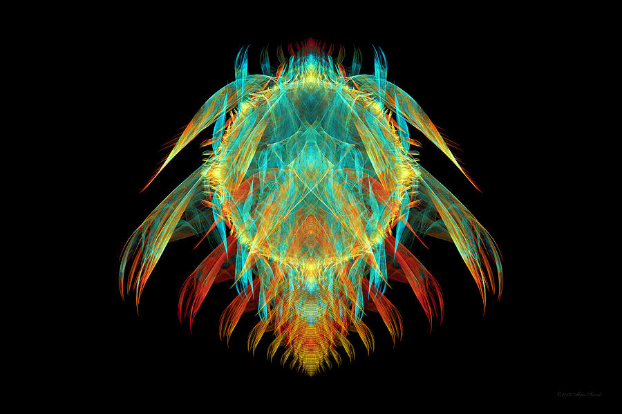 Fractal - Insect - I Found It In My Cereal Digital Art  - Fractal - Insect - I Found It In My Cereal Fine Art Print