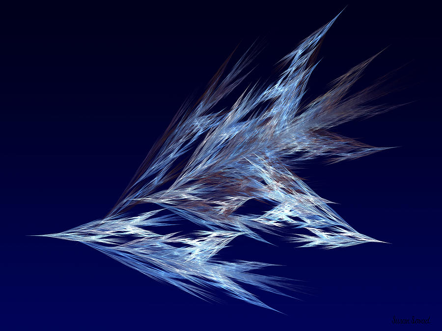 Fractals - Birds In Flight Digital Art
