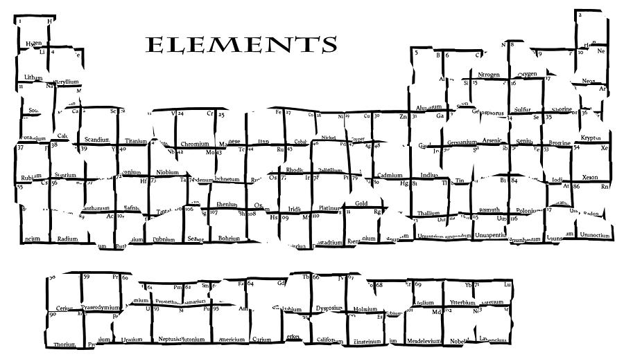 Fractured Periodic Table Digital Art