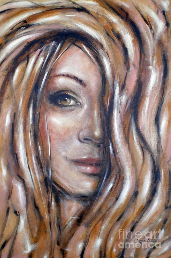 Portrait Painting - Fragile Smiles 230509 by Selena Boron