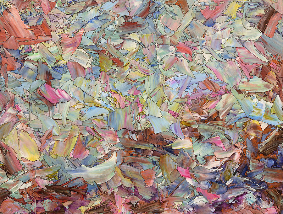 Abstract Painting - Fragmented Hill by James W Johnson
