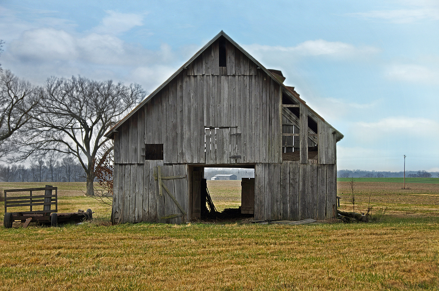 Framed Barn Photograph