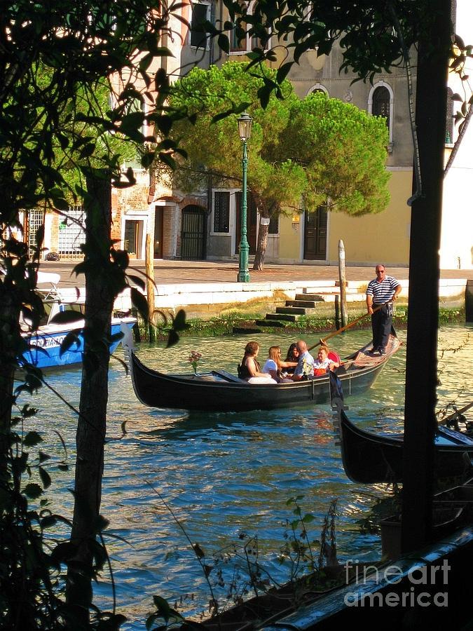 Framing A Gondola In Venice Photograph
