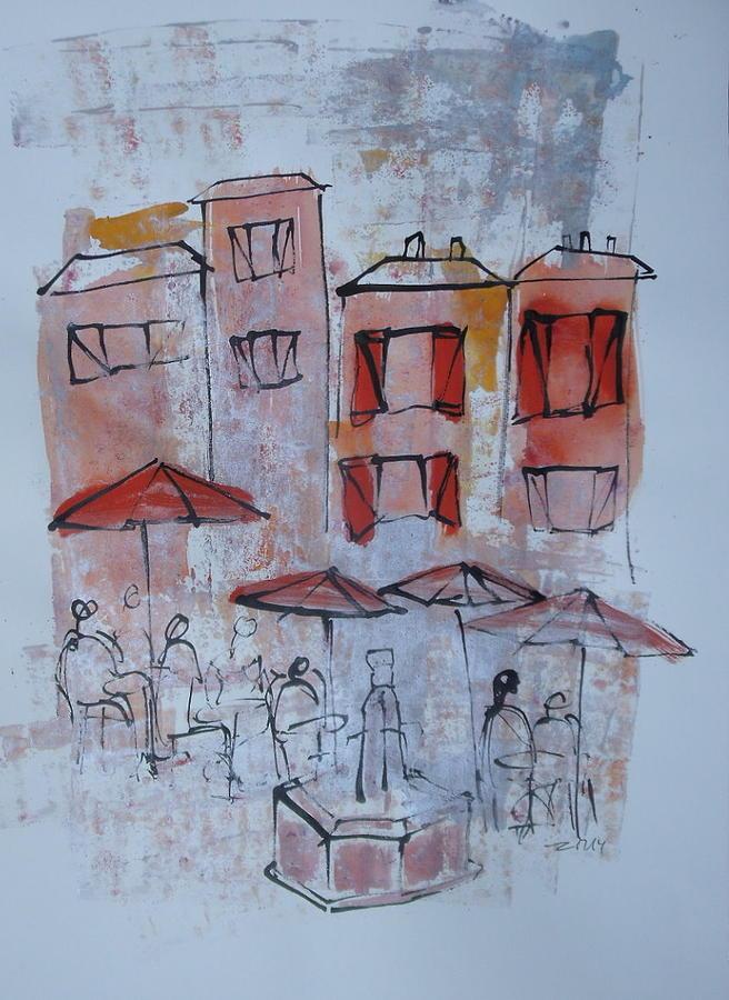 France Drawing - France by Sonja  Zeltner