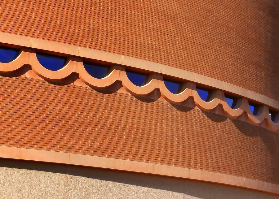 Frank Lloyd Wright Designed Auditorium Window Detail Photograph