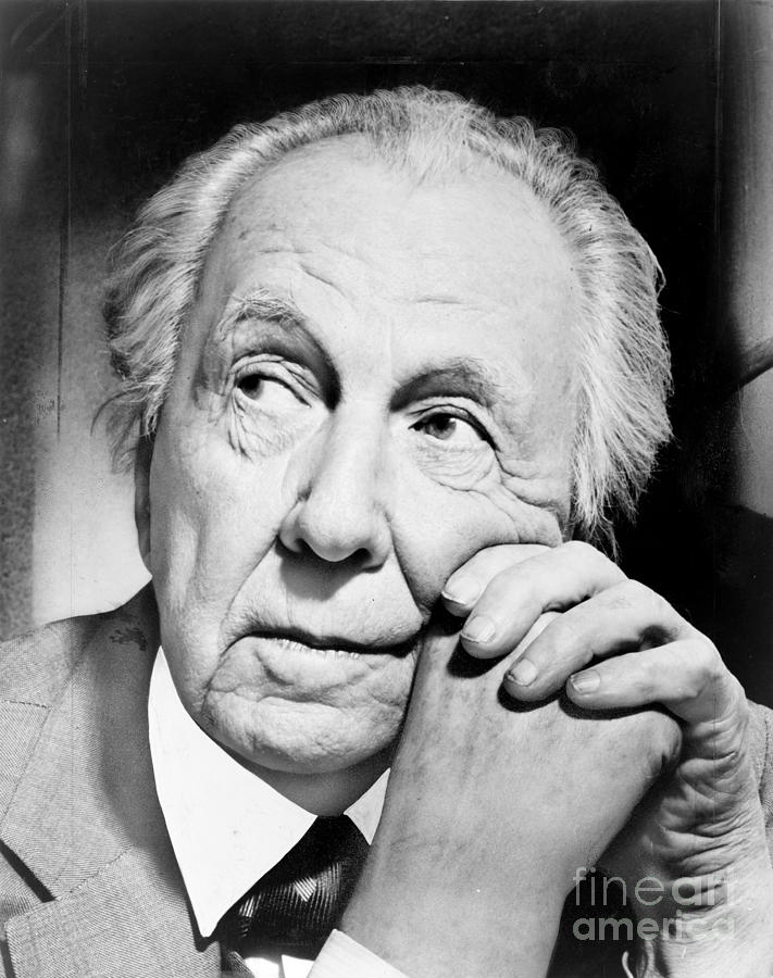 1954 Photograph - Frank Lloyd Wright by Granger