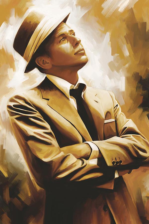 Frank Sinatra Paintings Painting - Frank Sinatra Artwork 1 by Sheraz A