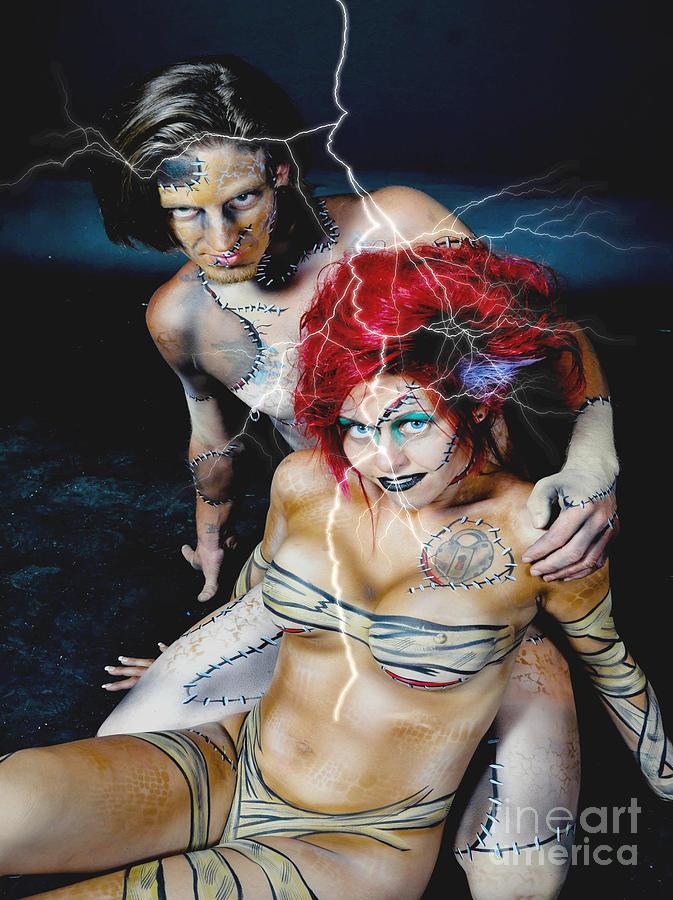 Frankenstein And Bride Photograph