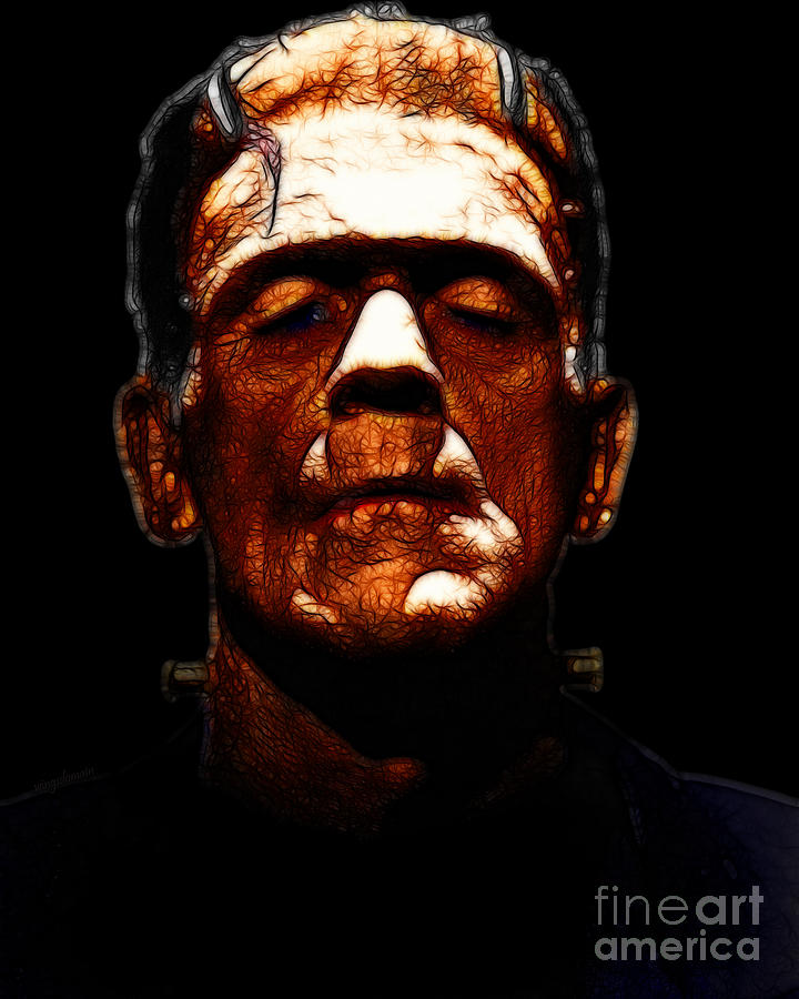 People Photograph - Frankenstein - Black by Wingsdomain Art and Photography