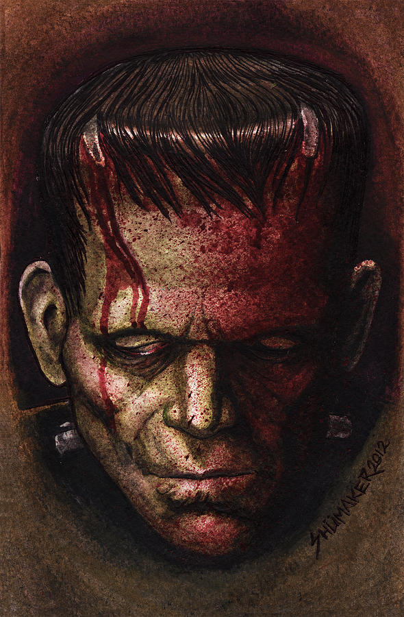 Frankenstein  Mixed Media  - Frankenstein  Fine Art Print