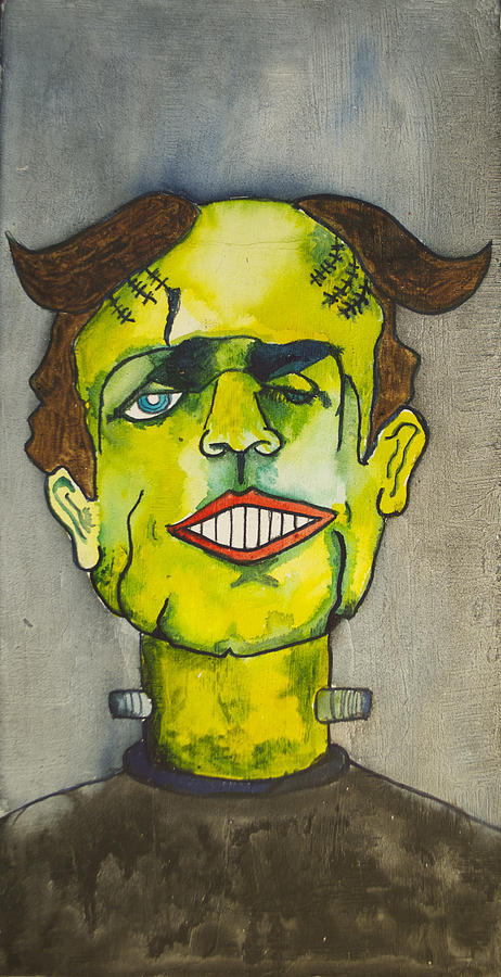 Frankensteins Monster As Tillie Painting  - Frankensteins Monster As Tillie Fine Art Print