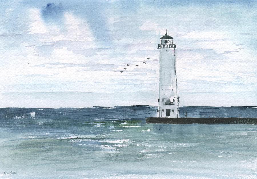 Frankfort Harbor Light Painting