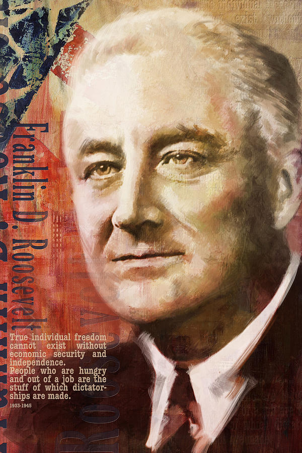 Franklin D. Roosevelt Painting