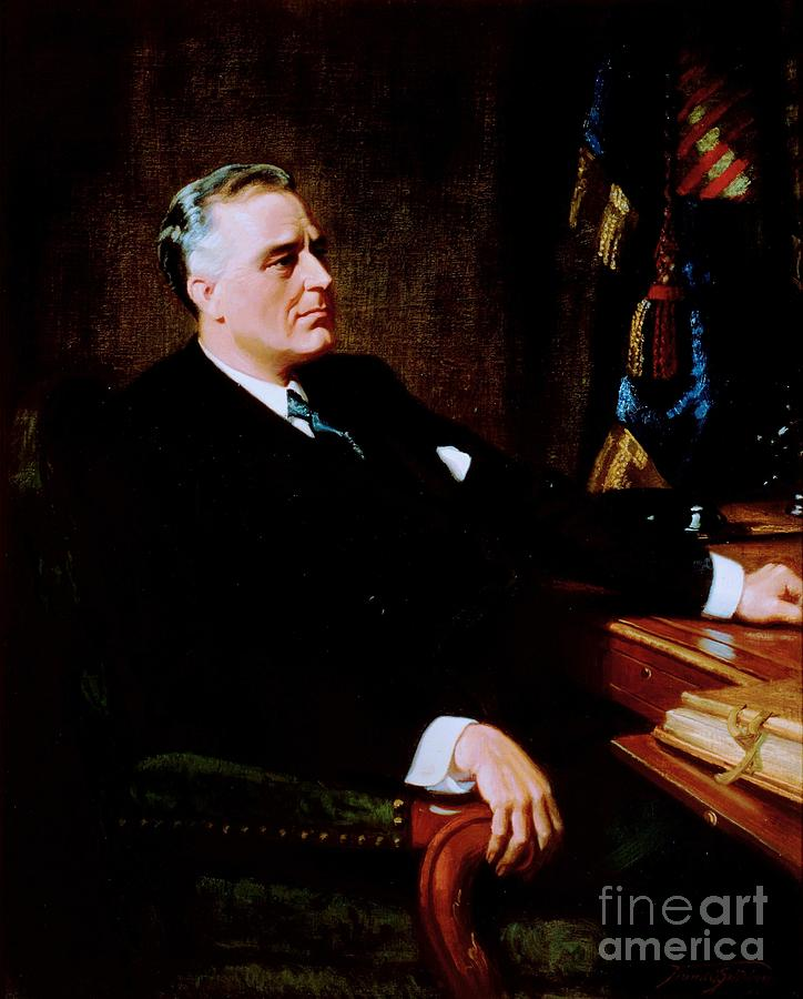 Pd Painting - Franklin Delano Roosevelt by Pg Reproductions