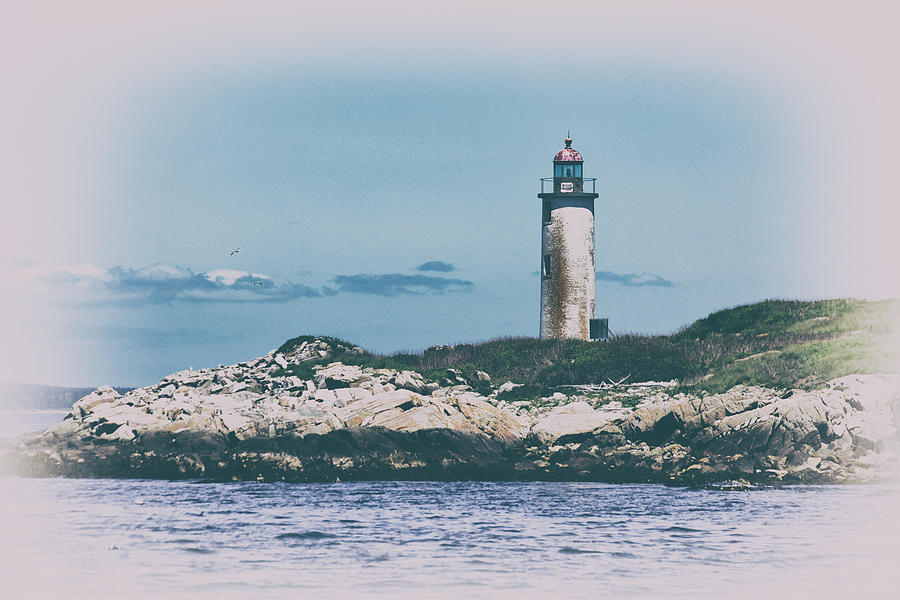 Franklin Island Lighthouse Photograph - Franklin Island Lighthouse by Karol Livote