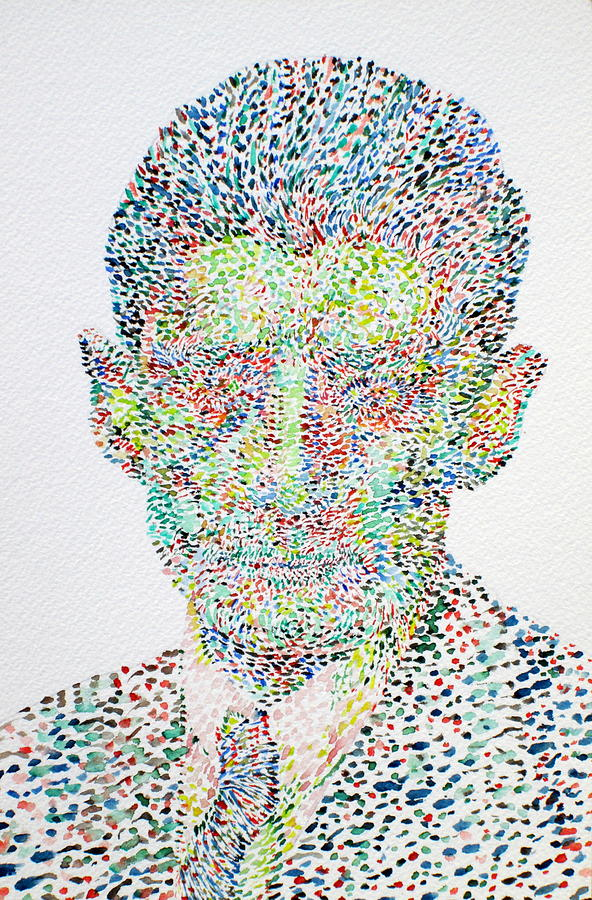 Franz Kafka Watercolor Portrait.1 Painting