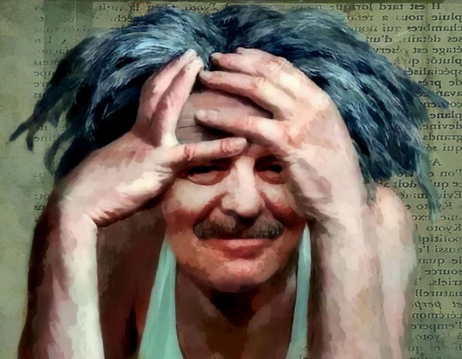 Frazzled Self Portrait Photograph