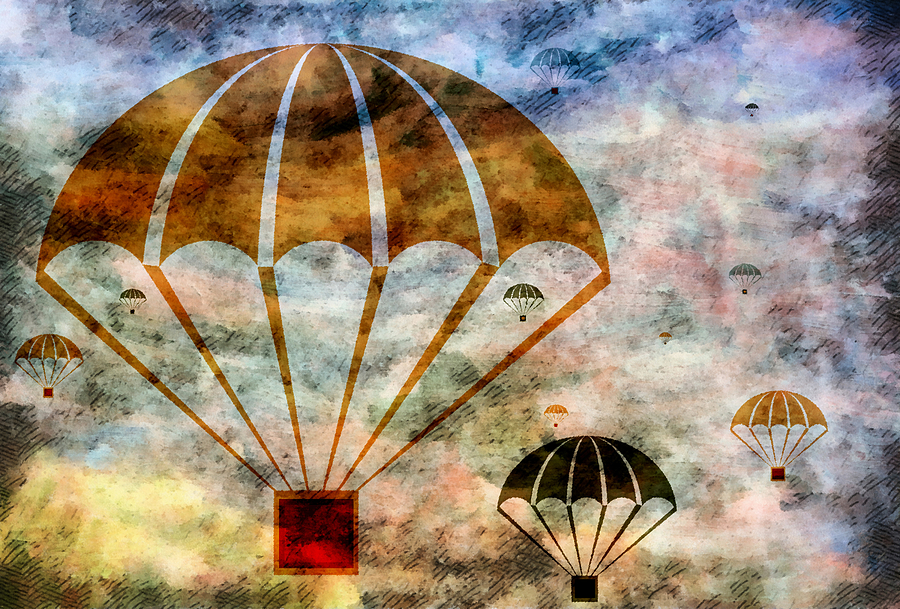 Free Mixed Media - Free Falling by Angelina Vick