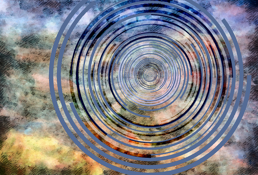 Free From Space And Time Mixed Media  - Free From Space And Time Fine Art Print