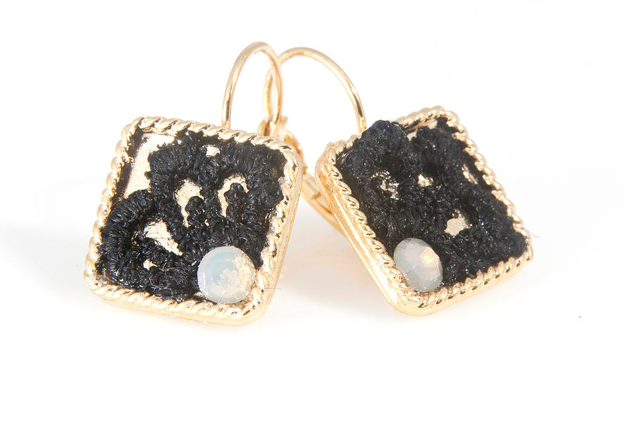 Free Shipping Idit Stern Sweet Squares Earrings Jewelry