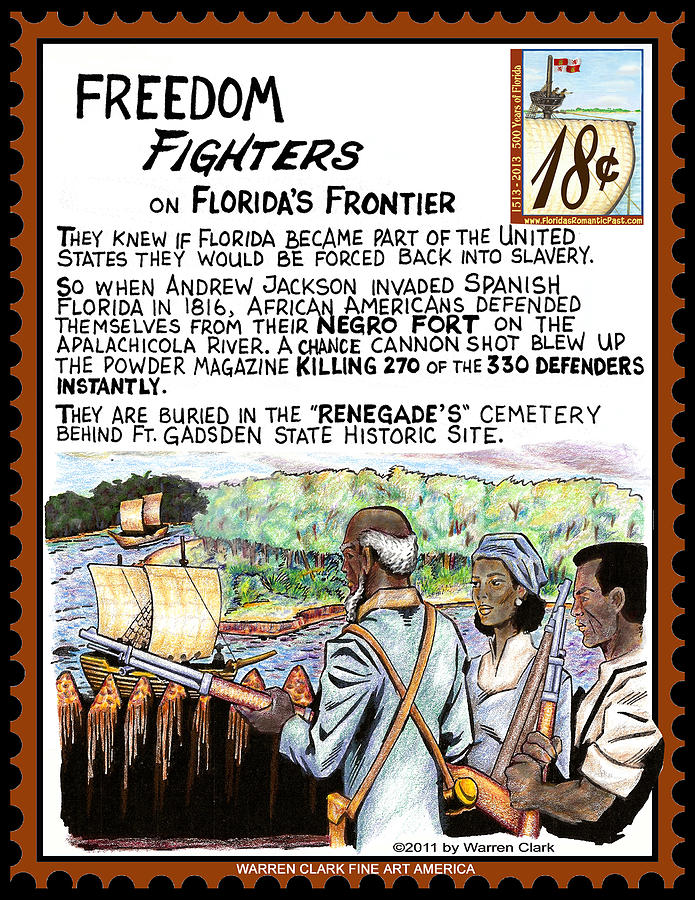 Freedom Fighters On Floridas Frontier Mixed Media  - Freedom Fighters On Floridas Frontier Fine Art Print
