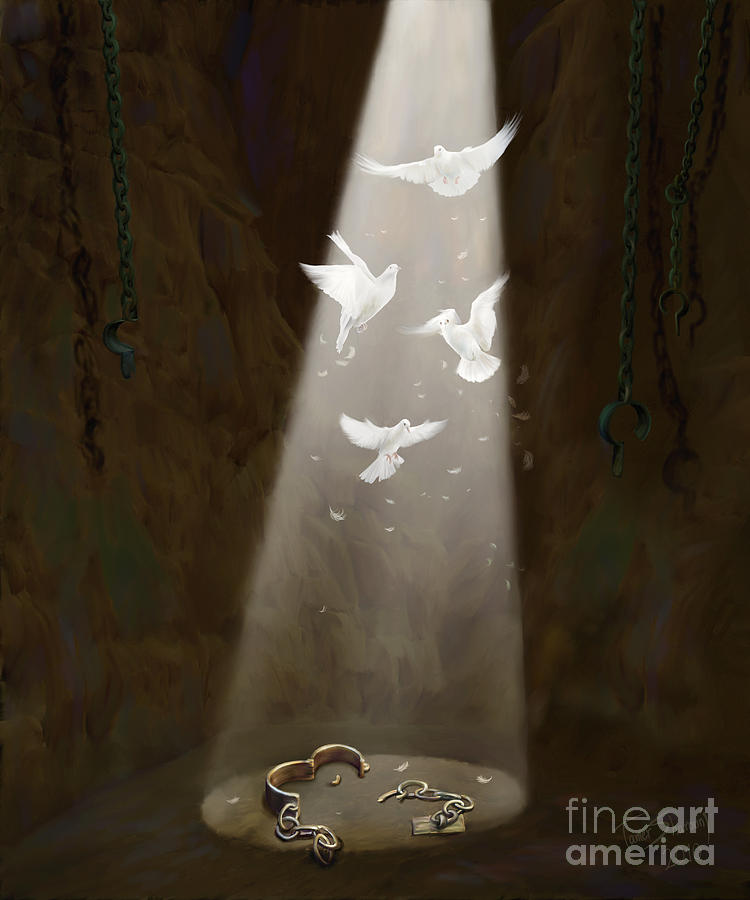 Prophetic Art Painting - Freedom by Tamer and Cindy Elsharouni