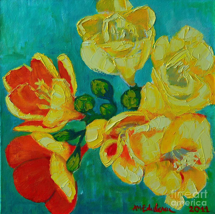 Freesia Painting - Freesia by Ana Maria Edulescu