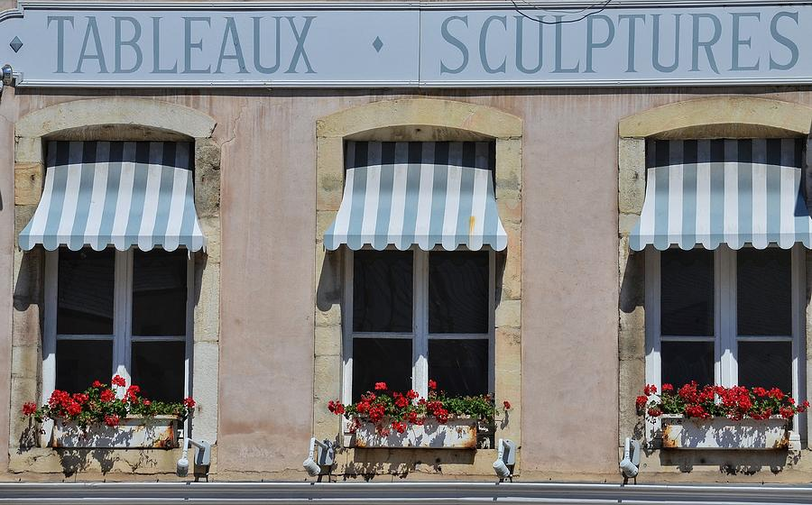 French Awnings Photograph by Michael Biggs