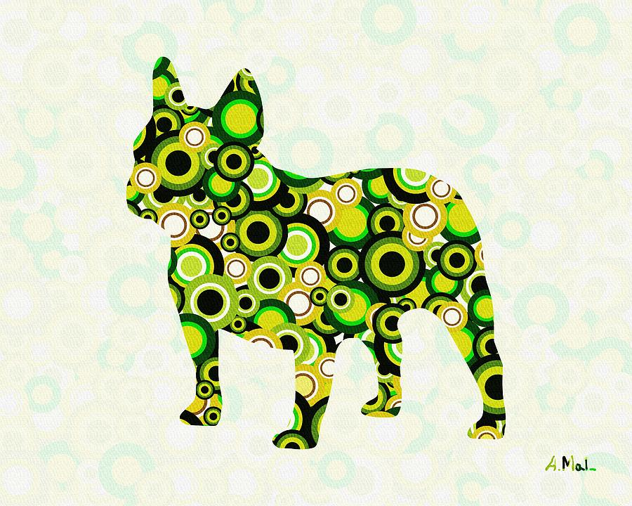 French Bulldog - Animal Art Digital Art  - French Bulldog - Animal Art Fine Art Print