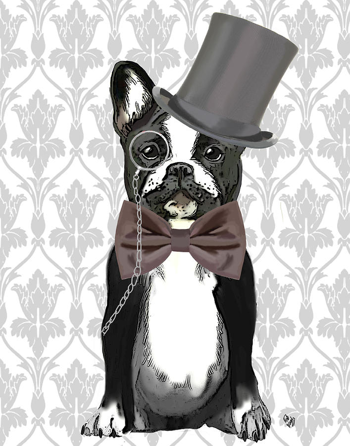 French Bulldog Monsieur Bulldog Digital Art  - French Bulldog Monsieur Bulldog Fine Art Print