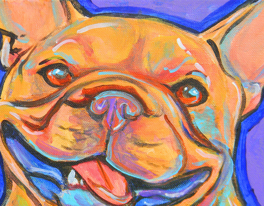 French Bulldog Smile Painting