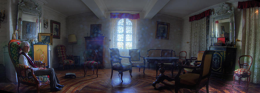 French Chateau Interior 01 Photograph  - French Chateau Interior 01 Fine Art Print