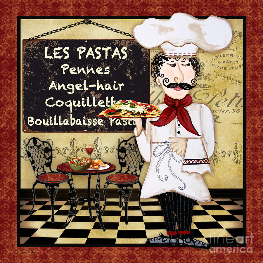 Kitchen Art America Inc: French Chef-c Painting By Jean Plout