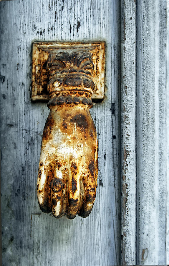 South Of France  Photograph - French Door Knocker by Georgia Fowler