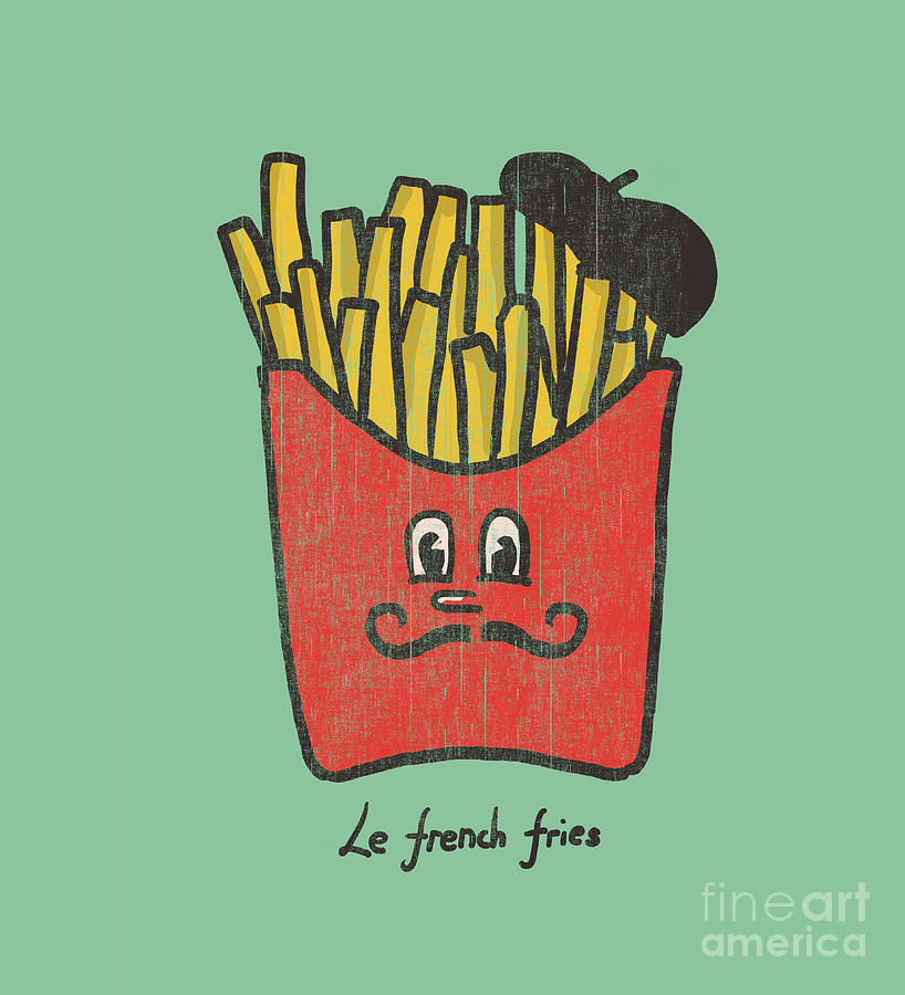 French Fries Digital Art  - French Fries Fine Art Print