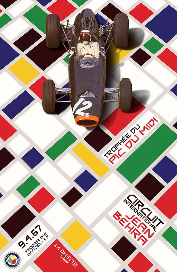 French Grand Prix 1967 Circuit Jean Behra Digital Art