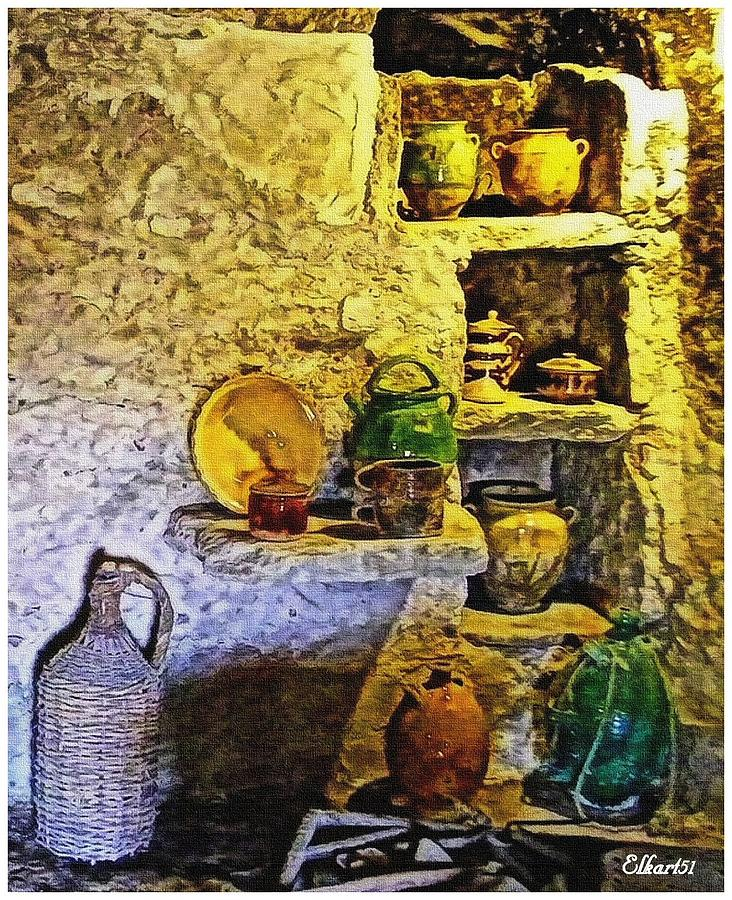 French kitchen digital art by gra howard for French kitchen artwork