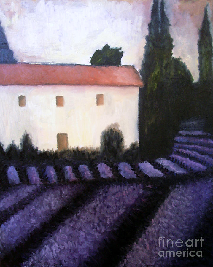 French Lavender Painting  - French Lavender Fine Art Print