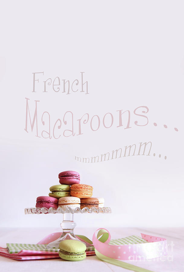 Afternoon Photograph - French Macaroons On Dessert Tray by Sandra Cunningham